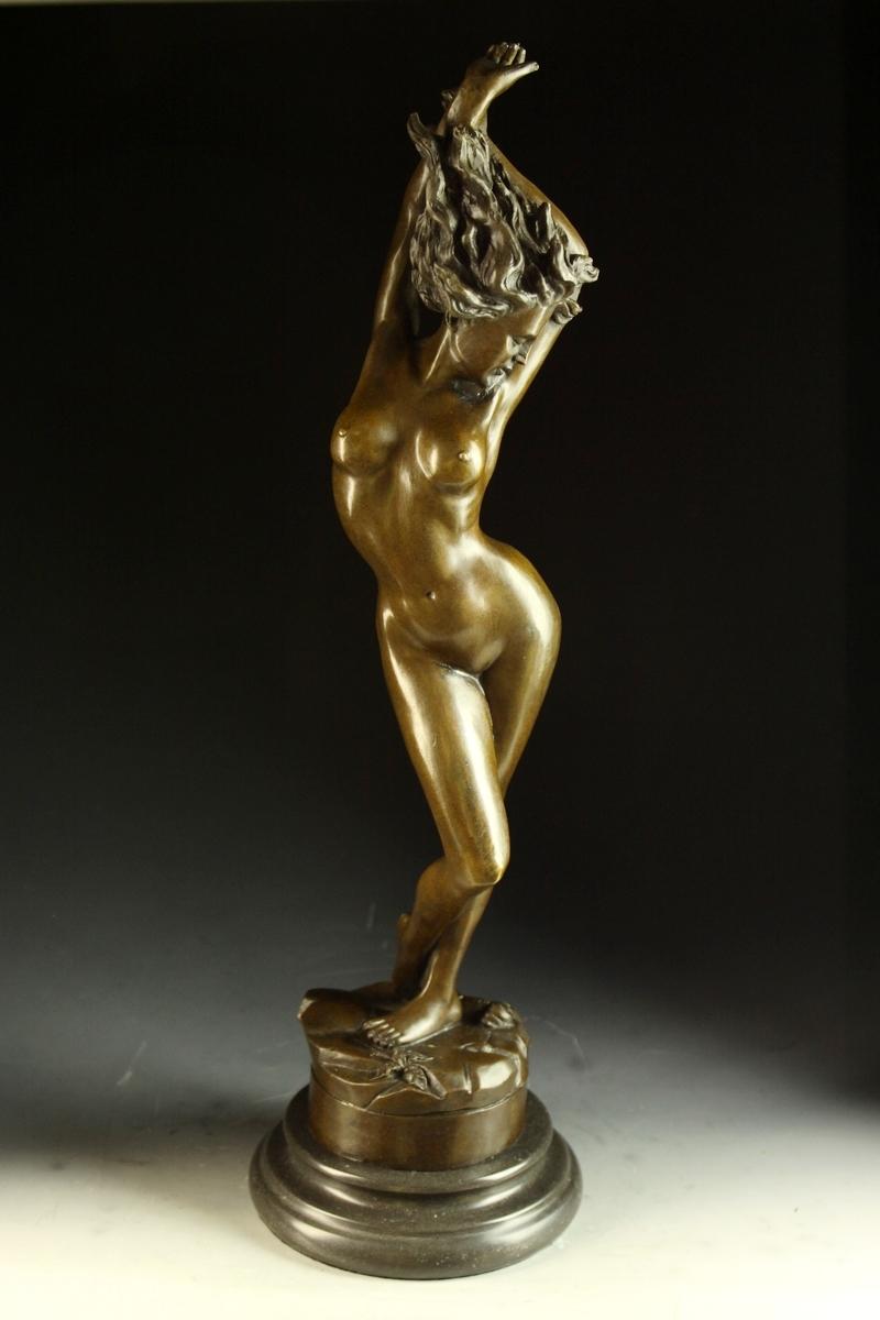 【送料無料】大型ブロンズ像 セクシーな裸婦48.5cm Aldo Vitaleh 名作インテリア 彫刻 銅像