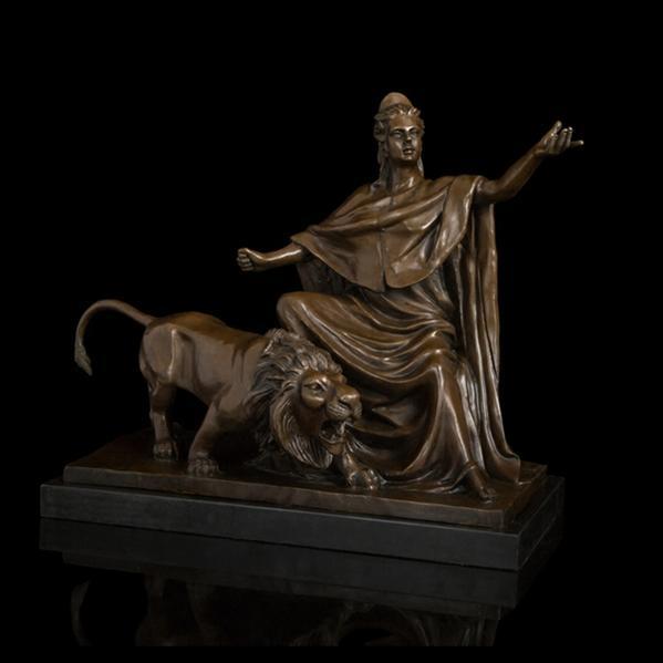 大型ブロンズ像ギリシャ神話 銅像 女神とライオン 21.5kg インテリア 50cm 彫刻 銅像 50cm 21.5kg, 格安即決:926bb504 --- sunward.msk.ru