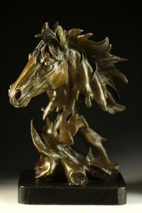 【送料無料】大人気ブロンズ像 馬 Milo 31cm 名品