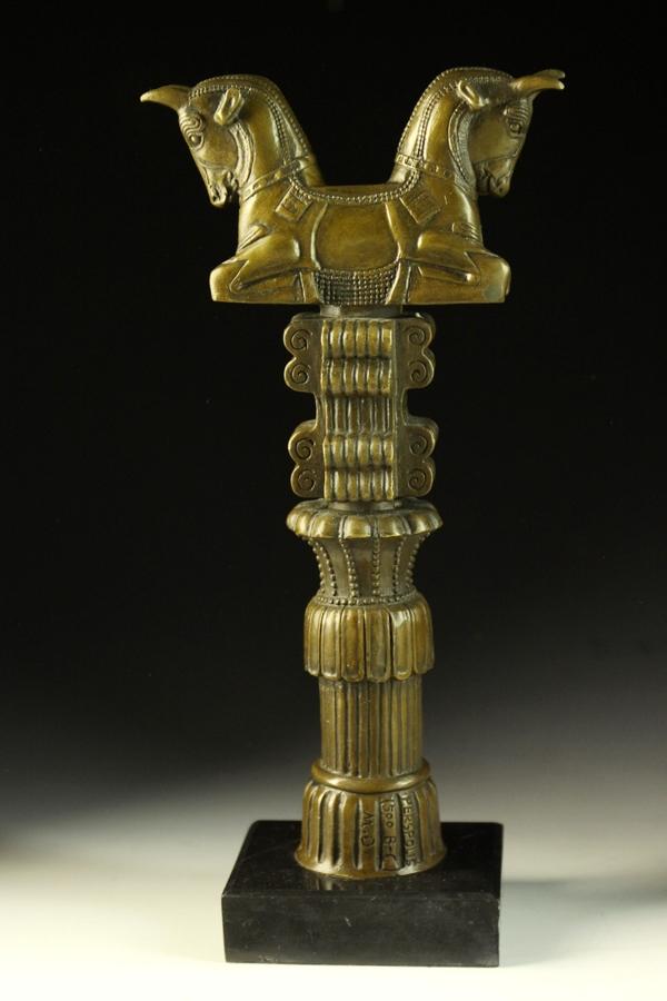 【送料無料】動物ブロンズ像『神獣』◇ギリシャ神話33.5cm◇大名品