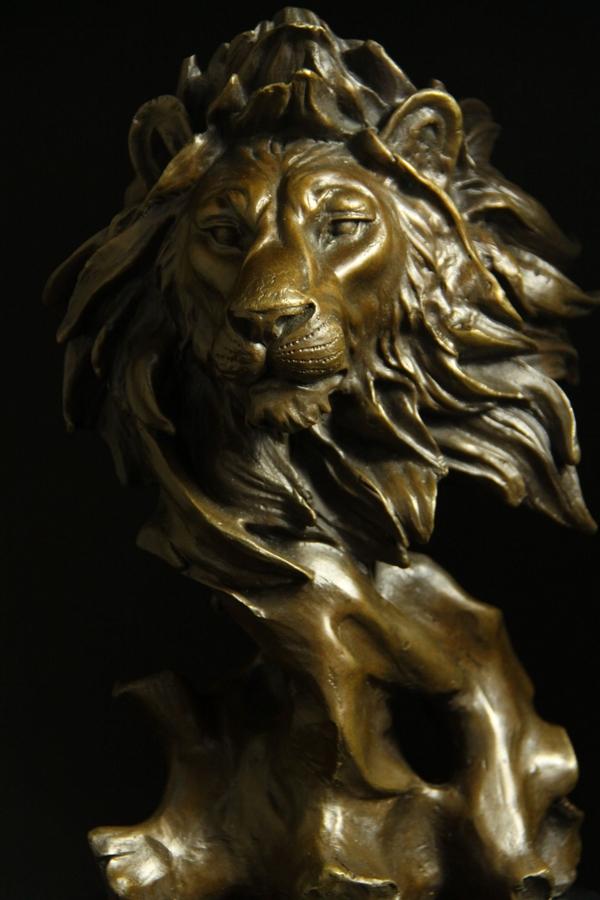 【送料無料 銅像】重量動物ブロンズ像 ライオン ライオン 31cm ミロ大名品インテリア 彫刻 31cm 銅像, ヒガシモコトムラ:eaafc918 --- sunward.msk.ru