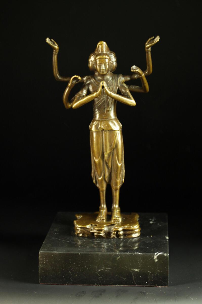 【送料無料】ブロンズ製仏教美術阿修羅像仏法の守護者銅像 彫刻 仏像 インテリア