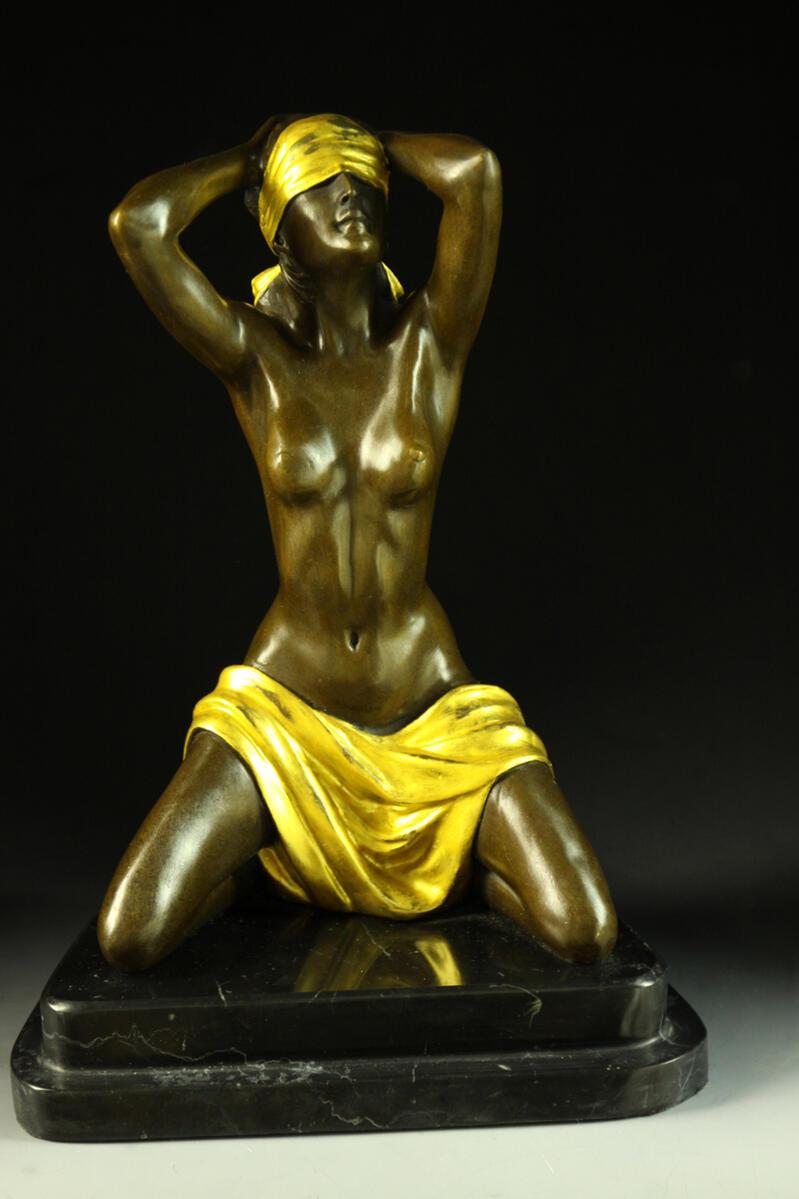 【送料無料】大人気ブロンズ像裸婦像Preiss彩色置物彫刻銅像インテリア, トータルヘルスデザイン:8e305fef --- sunward.msk.ru