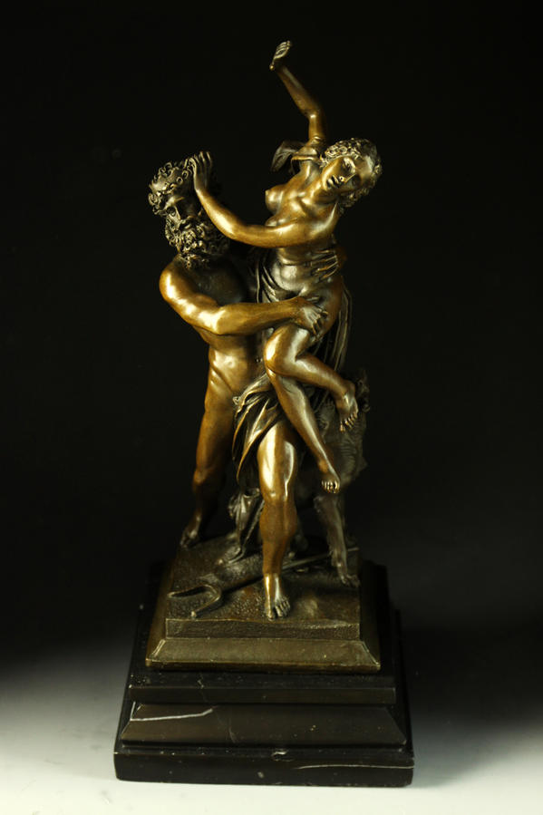 【送料無料】重量ブロンズ像 プロセルピナの略奪 ベルニーニ 7.2キロ置物彫刻銅像インテリア
