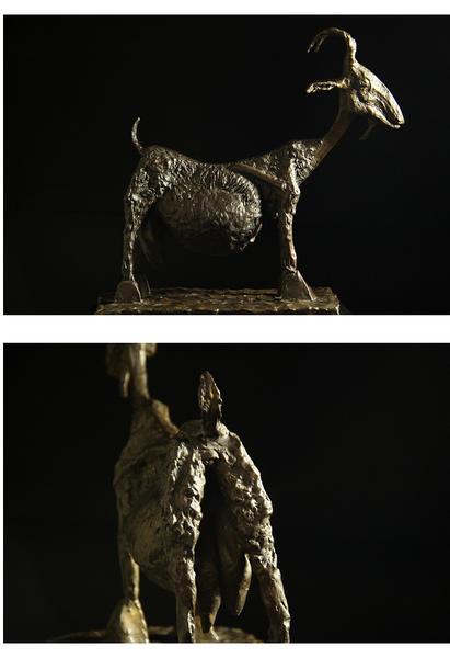 "Super heavy weight bronze modern sculpture ""nanny-goat' Picasso masterpieces"