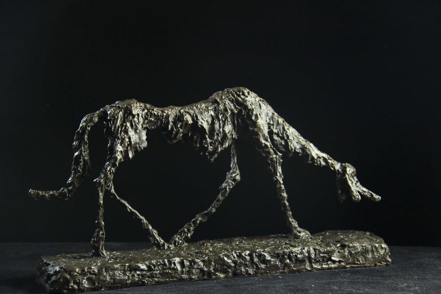 【送料無料】超人気ブロンズ像 オオカミ ジャコメッティ希少インテリア 彫刻 銅像