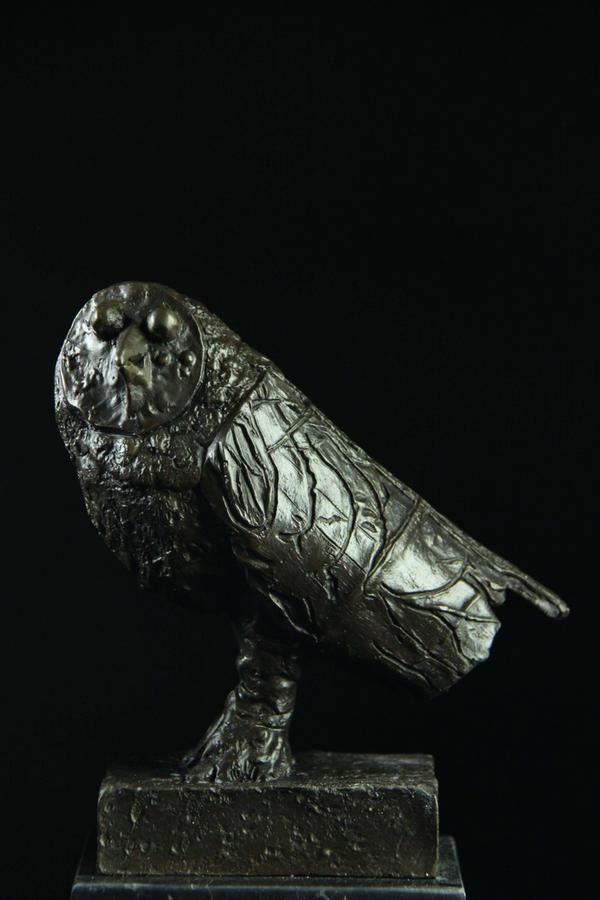 【送料無料】ピカソの名品 ふくろう インテリア ブロンズ像
