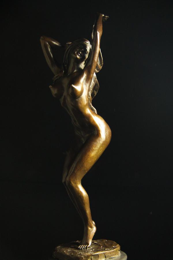 【送料無料】超人気ブロンズ像 セクシーな裸女 42cm名品銅像インテリア彫刻フィギュア