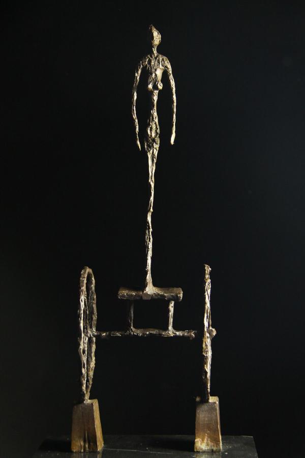 【送料無料】大型ブロンズ像 Le Chariot 銅像 Chariot 荷車 荷車 ジャコメッティ48cmインテリア 彫刻 銅像, Peach Boys:397d212b --- sunward.msk.ru