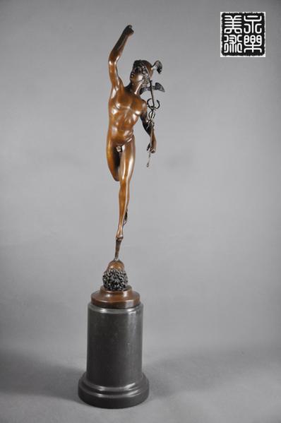 【送料無料】超大型ブロンズ像◇ヘルメス神 ◇70cm◇マーキュリー彫刻ギリシャ神話大名作
