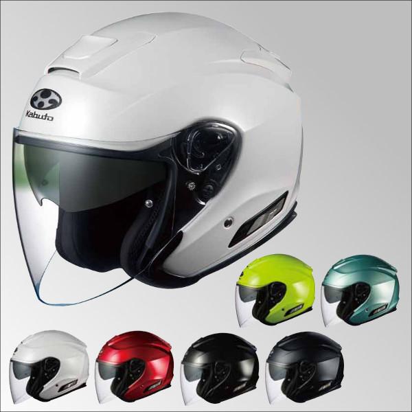 OGKカブト ASAGI アサギ ジェットヘルメット インナーサンシェード装備 オープンフェイス オージーケーカブト ブラックメタリック/XXL