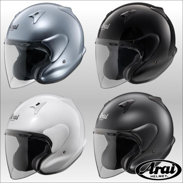 Arai MZ-F オープンフェイスジェットヘルメット エムゼットエフ アライ グラスブラック/57-58