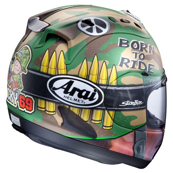 Arai RX-7 RR5 NICKY CAMO Nicky como Nicky-Hayden replica full face helmets
