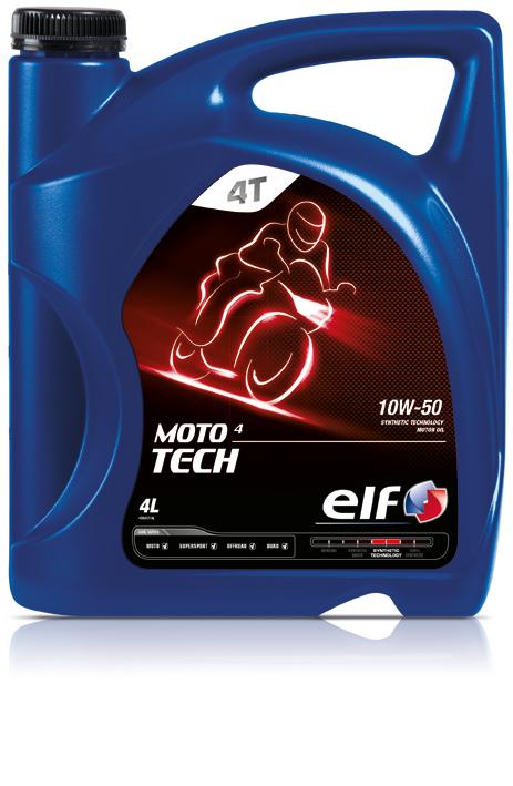 elf エルフ二輪用 4サイクルエンジンオイル モト4テック MOTO 4 TECH 10W50 4L