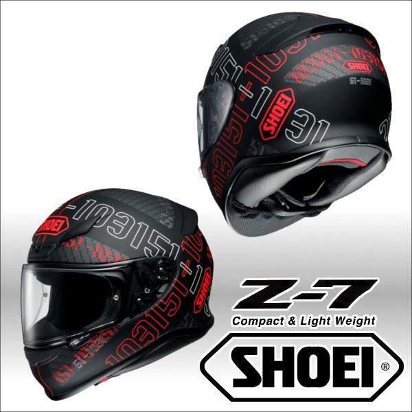 ショウエイ Z-7 PERMUTATION ゼットセブン パーミュテーション フルフェイス ヘルメット SHOEI Z7