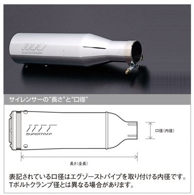 SUPERTRAPP (受注発注品) 3インチ インターナルサイレンサー 2.00インチ (50.8mm) アクティブ