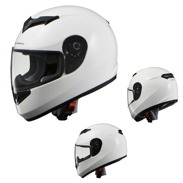 リード工業 SF-12 ストラックス フルフェイスヘルメット ホワイト LL バイク用