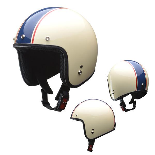 リード工業 リード GRENVER スモールジェットヘルメット アイボリー/ネイビー フリー バイク用