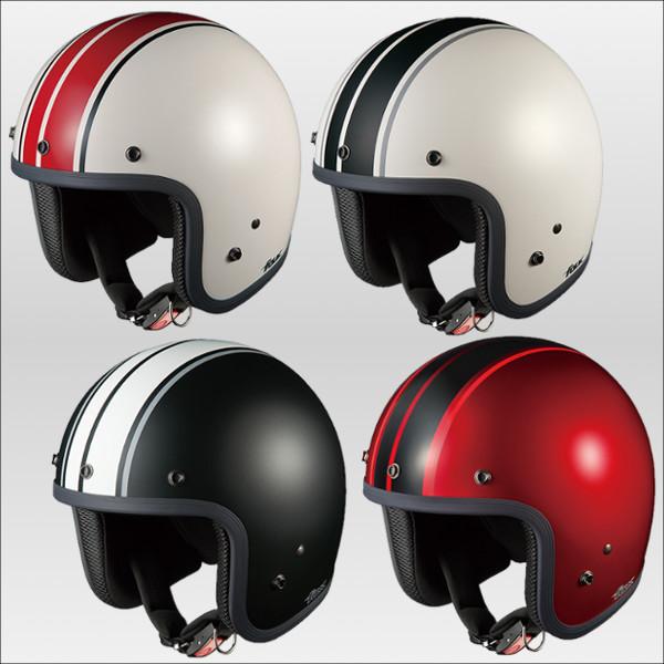 OGKカブト フォークG1 ストリートジェットヘルメット FOLK G1 シャイニーレッドブラック