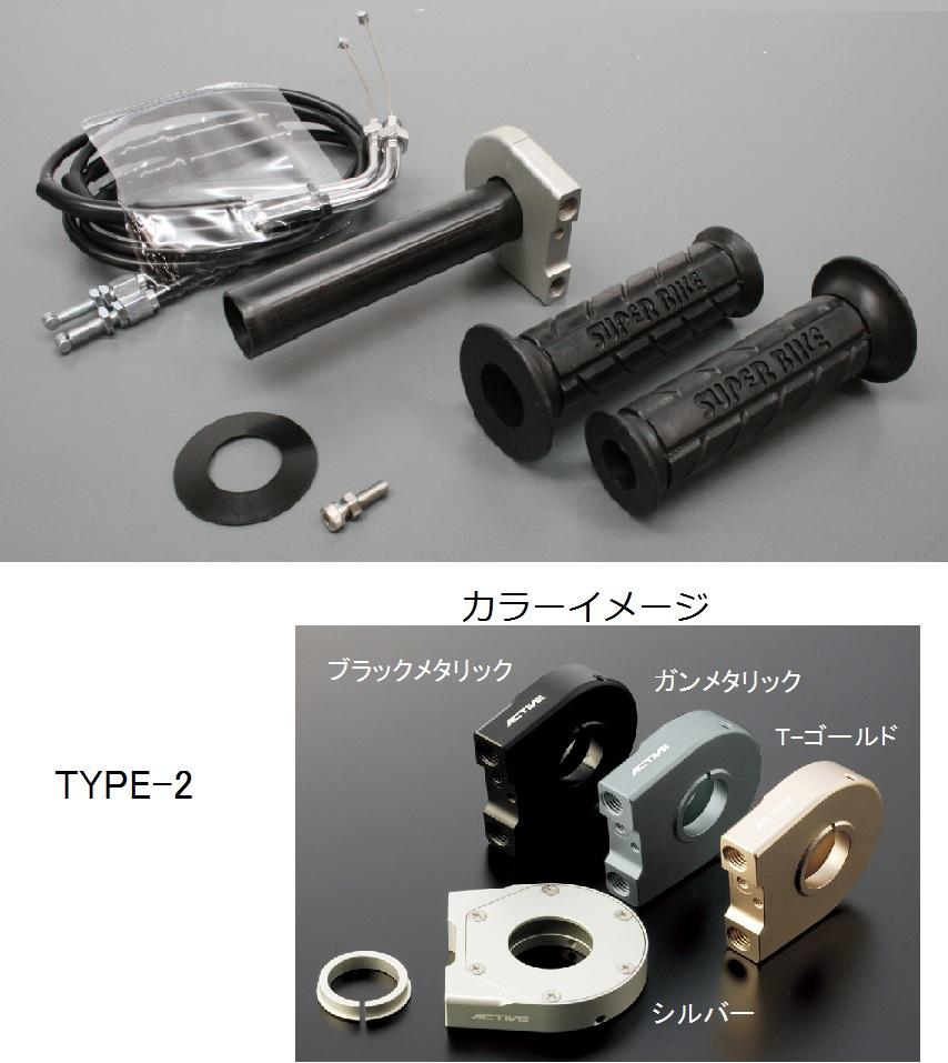 スロットルキット ホルダー タイプ2/ブラックメタリック 巻取Φ32 グロメット付属 ACTIVE(アクティブ) KTM 200DUKE(12年)