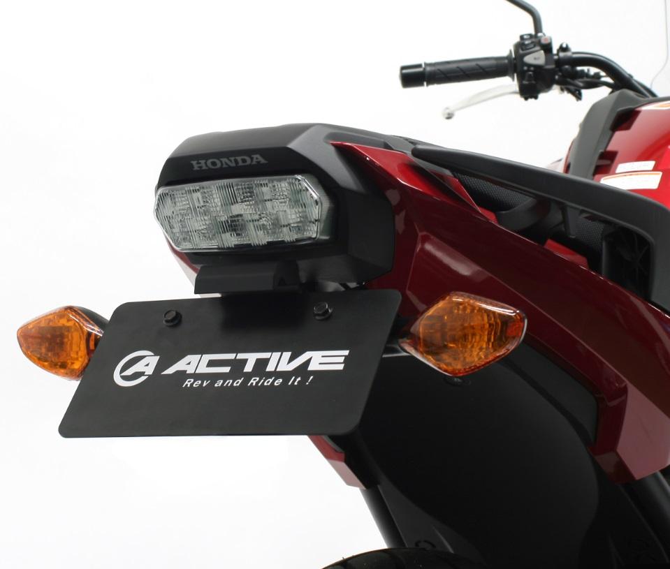 フェンダーレスキット ブラック LED ナンバー灯付 ACTIVE(アクティブ) NC750X/(ABS)16~19年