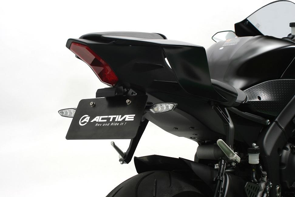 フェンダーレスキット ブラック (LEDナンバー灯付き) ACTIVE(アクティブ) YZF-R6(17~19年)