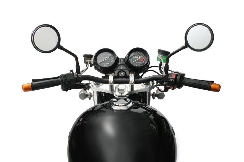 コンバーチブルステムキットφ43 ブラック (ハンドルポスト径φ22.2) ACTIVE(アクティブ) ゼファー1100/RS(ZEPHYR)