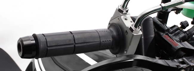 スロットルキット タイプ2 ホルダーカラー シルバー インナー巻取径φ28 ワイヤー金具メッキ ACTIVE(アクティブ) GROM(グロム)13~16年
