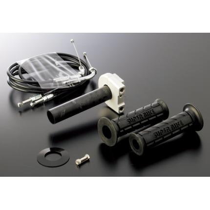 スロットルキットType1 インナー巻取径Φ32 ホルダーカラー:ガンメタ ワイヤー:メッキ金具 アクティブ FZ-1(08~10年)・FZ-1FAZER(06~10年)