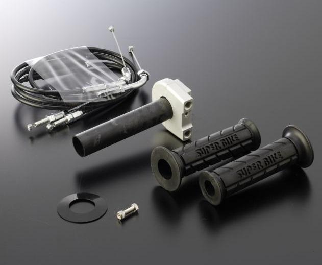 スロットルキット Type1 ホルダーカラーガンメタ インナー巻取径Φ32 ワイヤー金具メッキ ACTIVE(アクティブ) CB400SF・SB(14年)