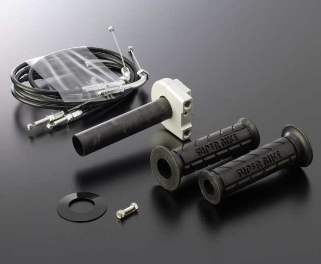 スロットルキット Type1 ホルダーカラーガンメタ インナー巻取径Φ42 ワイヤー金具メッキ ACTIVE(アクティブ) CB400SF・SB(14年)