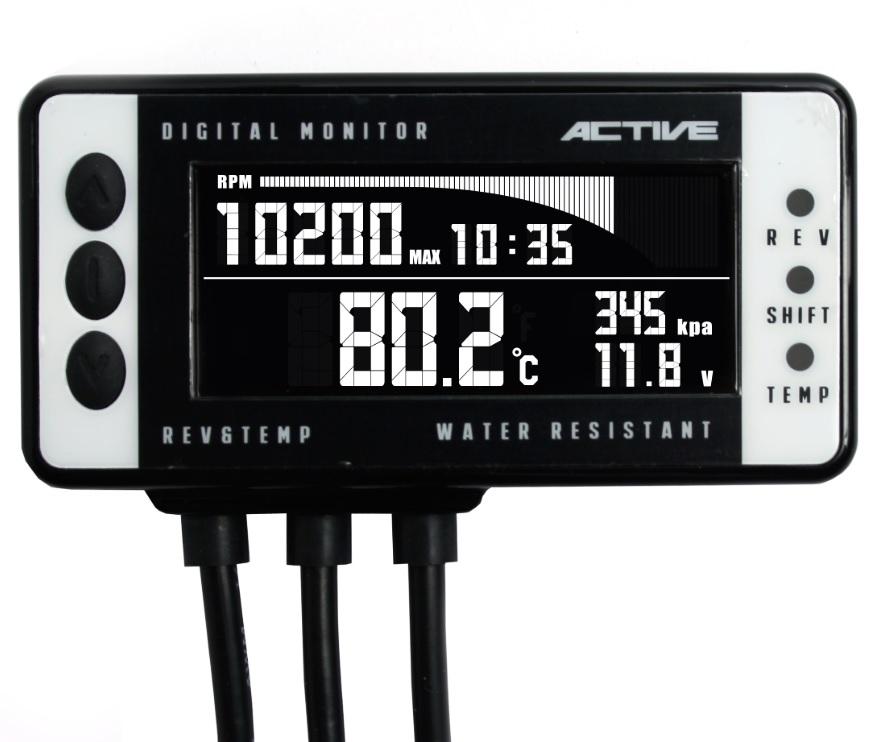 デジタルモニターV4 レブ&テンプメーター ACTIVE(アクティブ)