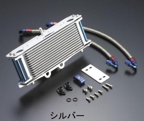 オイルクーラーキット ストレート #6ホース 4.5インチ-7段 シルバー ACTIVE(アクティブ) W800