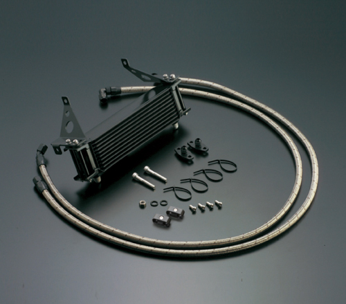 オイルクーラーキット(サイド廻し)ストレート #6 9-13R ブラック仕様 ACTIVE(アクティブ) CBR400F