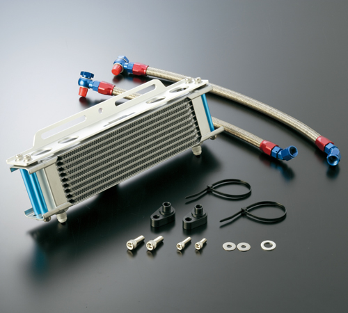 オイルクーラーキット(縦)ストレート #6 4.5-10R シリンダー取出しタイプ ACTIVE(アクティブ) APE50(エイプ)01~07年