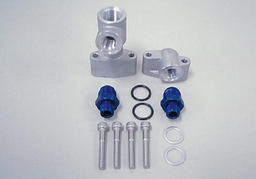 オイルクーラー取り出しセット #8 ブルー ACTIVE(アクティブ) Z1・Z2