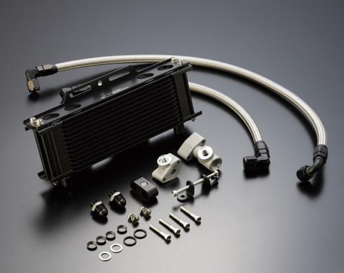 オイルクーラーキット(サイド廻し)ストレート #8 9-10R ブラック仕様 (サーモ対応キット) ACTIVE(アクティブ) Z1・Z2