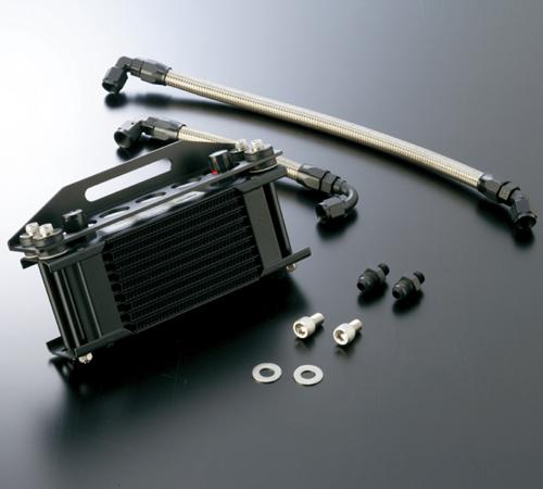 オイルクーラーキット(上廻し前)ストレート #8 9-13R ブラック仕様 ACTIVE(アクティブ) Z750FX-1