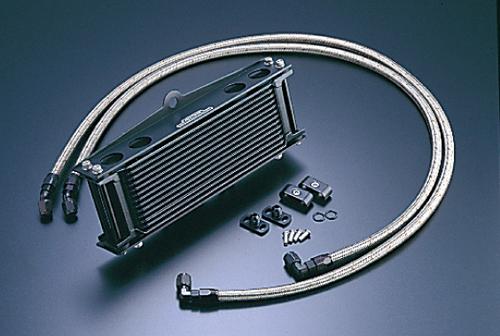 オイルクーラーキット(サイド廻し)ストレート #6 9-10R ブラック仕様 (サーモ対応キット) ACTIVE(アクティブ) ゼファー750/RS(ZEPHYR)