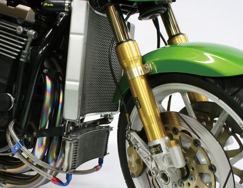 ZRX1200(01~08年) ビッグラジエーターキット シルバー ACTIVE(アクティブ)
