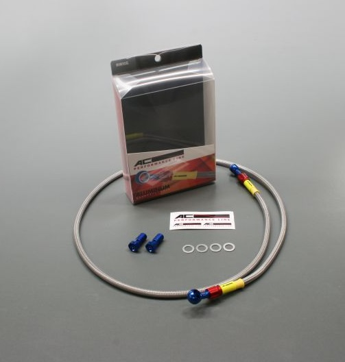 ボルトオンブレーキホースキット フロント用 T1-TYPE ブルー/レッド クリアホース ACパフォーマンスライン CB400SB(14年)