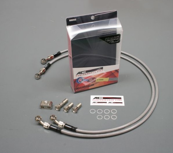ボルトオンブレーキホースキット フロント用 Wダイレクト メッキ クリアホース ACパフォーマンスライン FZ1(08~12年)