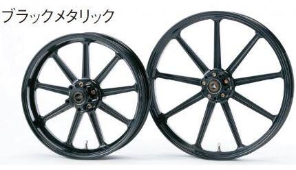 アルミ鍛造ホイール フロント(3.50-17)ダブルディスク用 ブラックメタリック GLIDE(グライド) XR1200、XR1200X 09~11年
