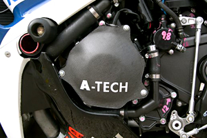 CBR1000RR(04~07年) ジェネレーターカバー ドライカーボン製 ツヤ有 クリア塗装済 A-TECH(エーテック)