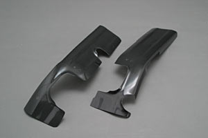 TL1000R(97~03年) フレームヒートガードB 左右セット 平織カーボン A-TECH(エーテック)