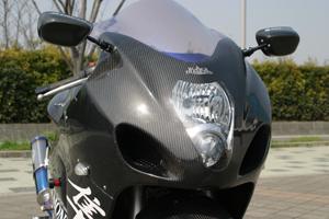 GSXR1300R 隼(99~07年) ブラックダイアモンド ビッグラムフルカウル 5点セット FRP/白 A-TECH(エーテック)