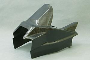 GSXR1300R 隼(03~07年) リアフェンダータイプ3 平織カーボン A-TECH(エーテック)