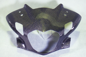 CBR250R(11~13年) アッパーカウルフロントマスク FRP/白 A-TECH(エーテック)