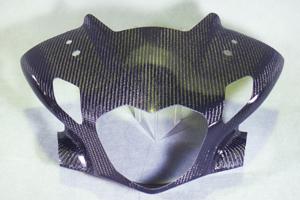 CBR250R(11~13年) アッパーカウルフロントマスク FRP/黒 A-TECH(エーテック)