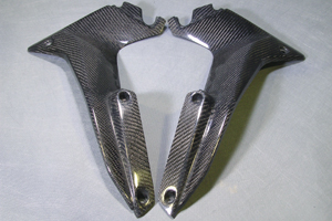CBR250R(11~13年) サイドカウルダクト 左右セット 平織りカーボン A-TECH(エーテック)